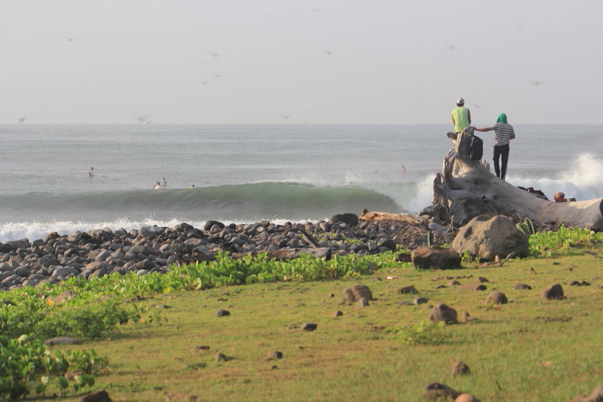 Surfing Punta Mango in El Salvador